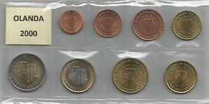 OLANDA - Serie cpl. 8 monete 2000 - Italia - Si accetta la restituzione solo se l'oggetto non corrisponde alla descrizione. - Italia