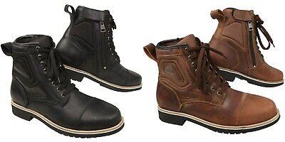 Modeka wolter chaussures de moto à lacets bottes Étanche avec fermeture Éclair