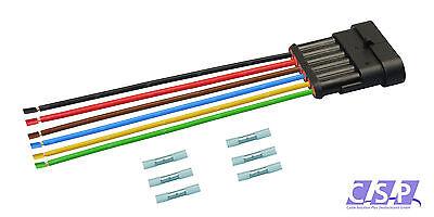 AMP Superseal Stift 6-polig H07V-K 1,50² 250mm Stecker Elektrik Steckverbinder