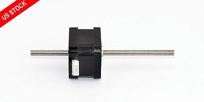200mm T6.35x2 Lead Screw Nema 17 Stepper Motor Non Captive Linear Actuator 0.84a