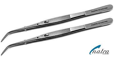 2x College Pinzette mit Sperre 15cm Dental Zahnarzt Zahn Naht OP Chirurgische  - Naht Pinzette