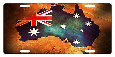 Australia Flag License Plate - AUSTRALIA Flag Custom License Plate Commonwealth Star Emblem Map Version