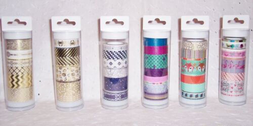 WASHI TAPE ASSORTED PATTERNS 8 PC SETS by LITTLE B=CRAFT SCRAPBOOKING -U CHOOSE