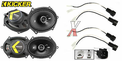 "Kicker DSC680 6""X8"" Speakers With Wiring Harness Fits Ford 2 Pairs 50Watt Rms"