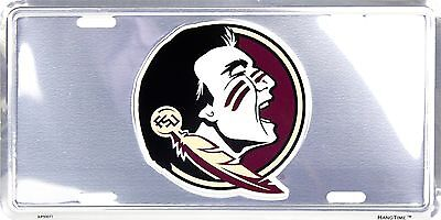 - Florida State FSU Seminoles Embossed Chrome Metal Auto Tag License Plate Sign