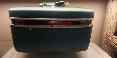 Vintage - Samsonite Horizon  Blue Train Case - Hard Luggage