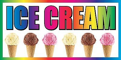 3x6 Ice Cream Vinyl Banner Sign