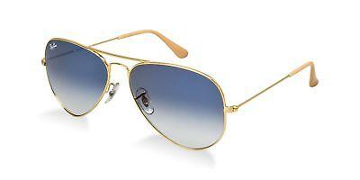 Ray Ban Sunglasses Aviator RB3025 001/3F Gold Frame w/Blue Gradient (Ray Ban Sunglasses Blue Lenses)