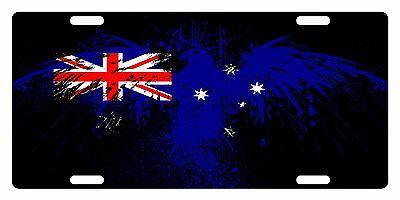 Australia Flag License Plate - AUSTRALIA Flag Custom License Plate Commonwealth Star Emblem Eagle Version