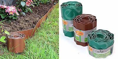 Plastic Lawn Border Edging Garden Grass Edge Fence Wall Driveway Roll Path Drive