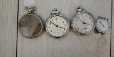 3 X Pocket Watches Ingersoll.and Services Spares Or Repair .