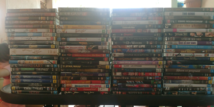 Over 300 DVDs listed across multiple batches