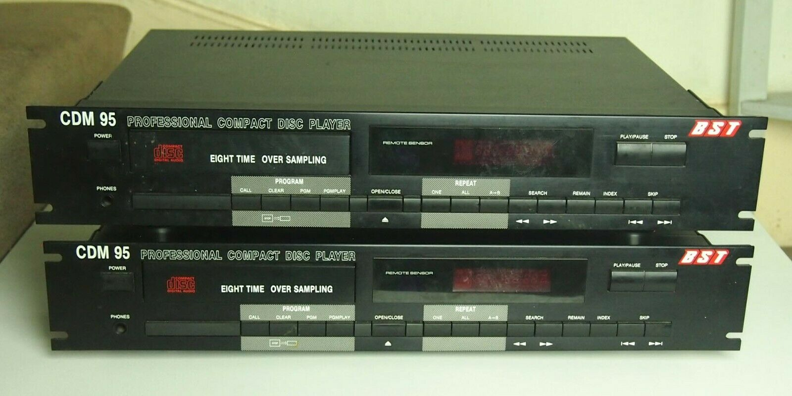 Pair of BST Professional CD Player DJ Club Rack Mount Pro X2 CDM