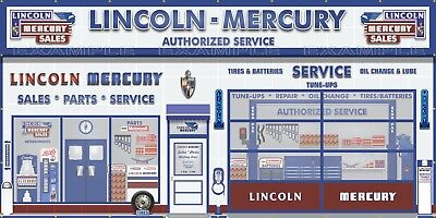 LINCOLN MERCURY CAR SALES Trader REPAIR WALL MURAL SIGN BANNER GARAGE ART 8'X16'
