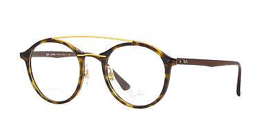 $325 Ray-Ban MENS BROWN EYEGLASSES FRAMES GLASSES OPTICAL LENSES ITALY RB 7111