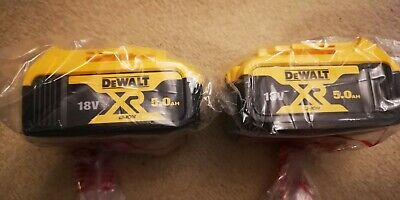 Dewalt DCB184 5.0ah 18v XR Lithium Ion Li-Ion Battery Twin Pack