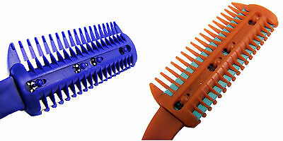 2 Two St.Rasierer Kamm mit / Gebaut & 5 Bonus Klingen Haare Schneiden Modellier