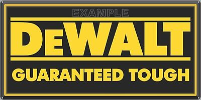 "DEWALT POWER TOOLS SIGN DEALER REPRO ALUMINUM INDOOR/OUTDOOR 12"" X 24""/18"" X 36"""
