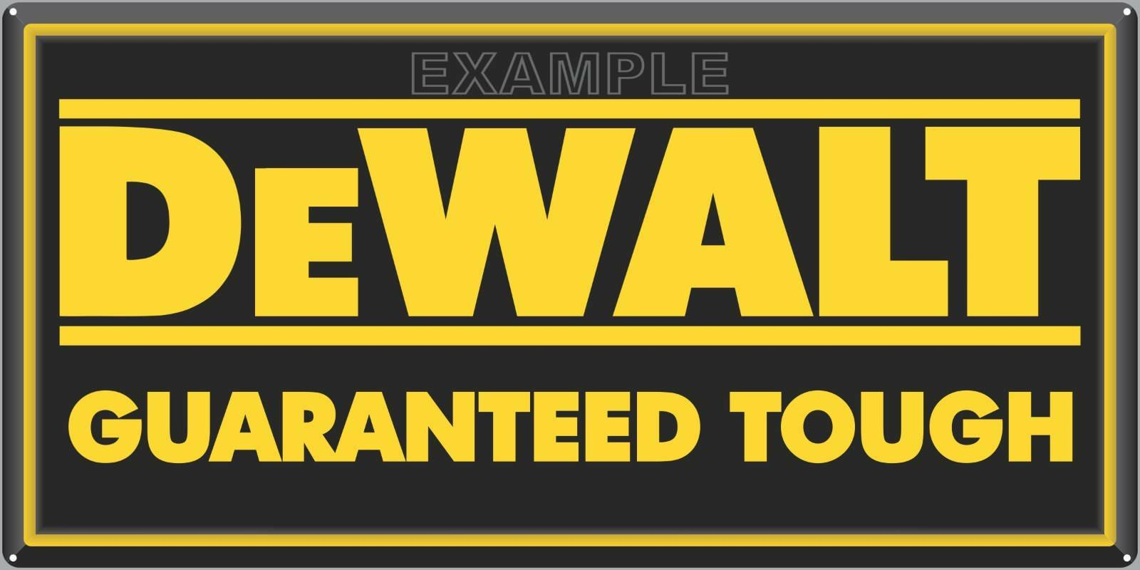 DEWALT POWER TOOLS SIGN DEALER REPRO ALUMINUM INDOOR/OUTDOOR