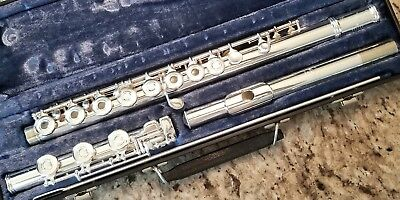 GEMEINHARDT 3B OPEN HOLE FLUTE! SILVER PLATED,  B FOOT,  INLINE G! LOOK AND READ