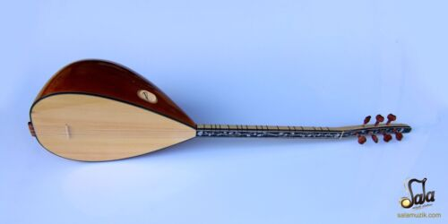 TURKISH QUALITY  SHORT NECK MULBERRY BAGLAMA SAZ INSTRUMENT FOR SALE ASK-306