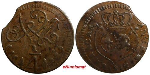 Venezuela CARACAS Fernando VII Copper 1818 1/4 Real C# 2