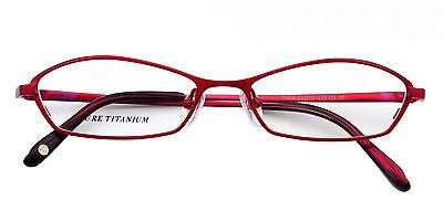 Womens Cat Eye Reintitan Brillen Rahmen Brille Rx-in der Lage Brillen