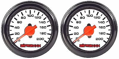 Dual Needle - Two Air Gauges Dual Needle 200psi Air Ride Suspension System 2