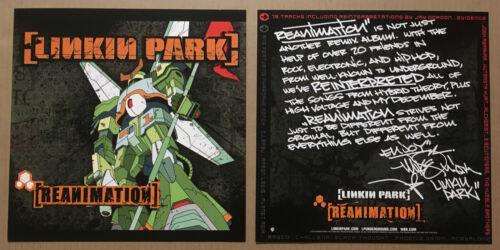 LINKIN PARK Rare 2002 SET 2 PROMO POSTER FLAT for Reanimation CD USA MINT 12 x12