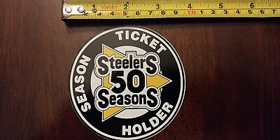 Rare PITTSBURGH STEELERS. 1982, 50 Seasons, session ticket holder sticker Mint!