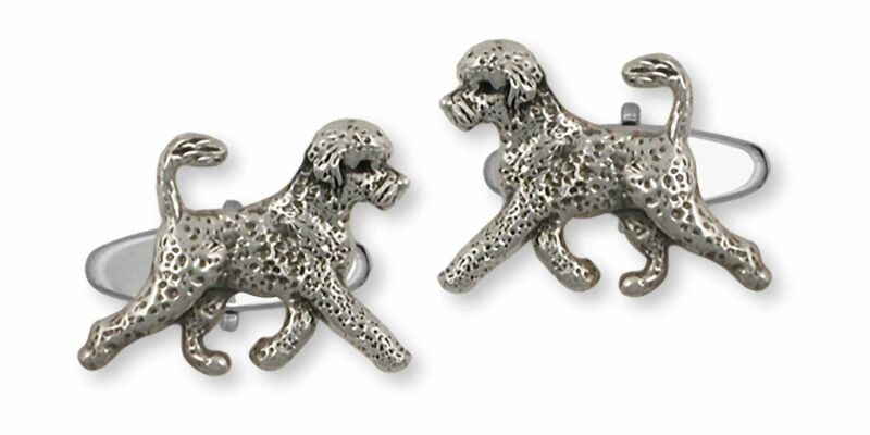 Portuguese Water Dog Jewelry Sterling Silver Handmade Portuguese Water Dog Cuffl