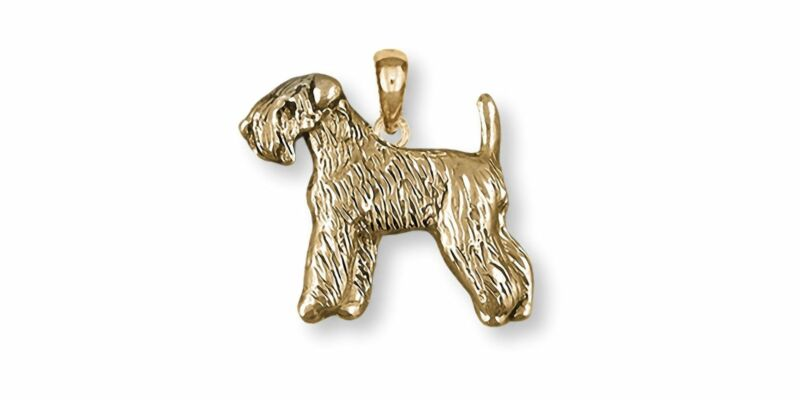 Soft Coated Wheaten Terrier Jewelry Gold Vermeil Handmade Wheaten Pendant  SCW12