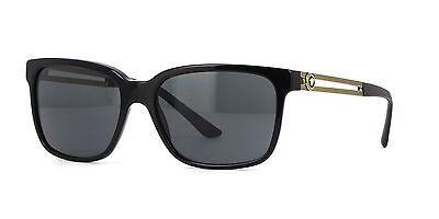 NWT Versace Sunglasses VE 4307 GB1/87 Black Gold / Gray 58 mm VE4307 GB187 NIB