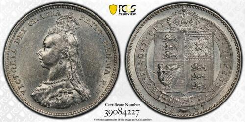 1887 Great Britain Shilling KM# 761 Victoria BU