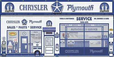 CHRYSLER PLYMOUTH MOPAR SALES Vendor GARAGE WALL MURAL SIGN BANNER ART 5' X 10'