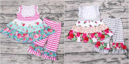 NEW Boutique Girls Ruffle Tunic Dress & Leggings Outfit Set