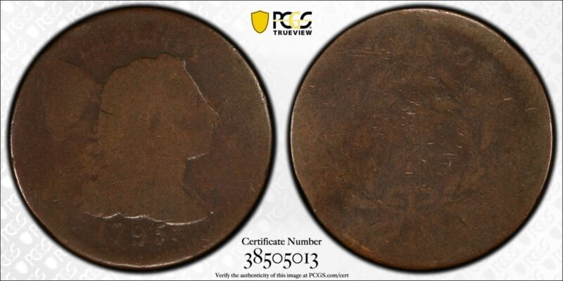 1795 Plain Edge Large Cent S-76B PCGS FR02 CAC D. Brent Pogue Collection