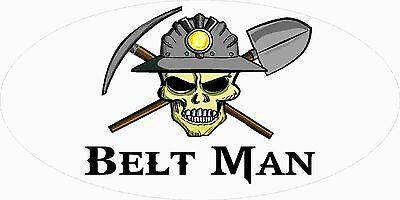 3 - Belt Man Miner Skull Mining Tool Box Hard Hat Helmet Sticker Wv H396