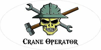 3 - Crane Operator Skull Oilfield Roughneck Hard Hat Helmet Sticker H293