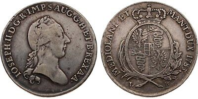 Italien-Mailand, Joseph II., Scudo 1785 LB, Herinek 360, 22,90g., fss/ss