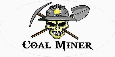 3 - Coal Miner Skull Mining Tool Box Hard Hat Helmet Sticker Underground Wv H400