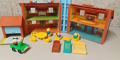 1980 Vintage Fisher Price Little People House Set #952 complete