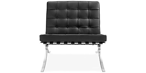 Replica Design Barcelona Lounge Chair Premium Italian leather RVS Hornsby Hornsby Area Preview