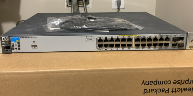 Hp ProCurve 2910al-24G-PoE+ Switch ( J9146A ) 24 Port Ethernet Switch Mount Cord