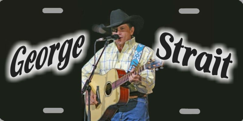 """George Strait Color Photo Country License Plate 12""""x6"""" HIGH QUALITY ALUMINUM"""