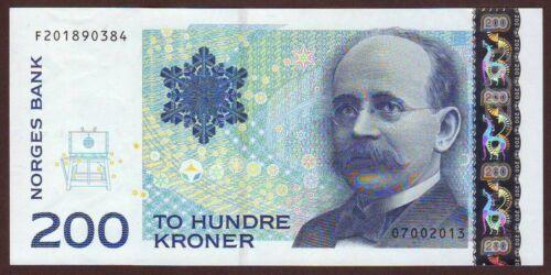 NORWAY   200 Kroner  2013    Gem UNC