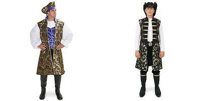 Priate mens costumes Royal Brocade Pirate Tunic Vest Set great 4 beauty& beast - Priate Costumes