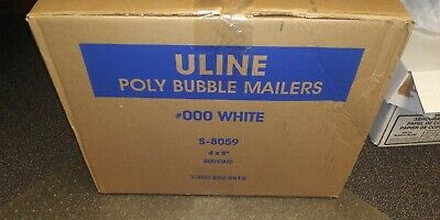 4x8 Uline Poly Bubble Mailers 500 Ct Case