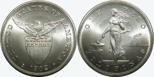 1902-S US-Philippines Peso ~ SATIN  ~ Daniel Carr Moonlight Mint ~ IMPERFECT ~D2