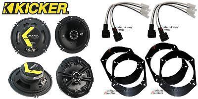 2 Pair Kicker DSC650 6.5 Speakers + Front / Rear Adapters +